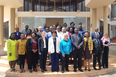 Staff and fellows from GEST along with representatives from the UNESCO Management of Social Transformations Programme (MOST), the Kenya National Commission for UNESCO (KNATCOM), and invited experts outside the Kenya Institute for Curriculum Development