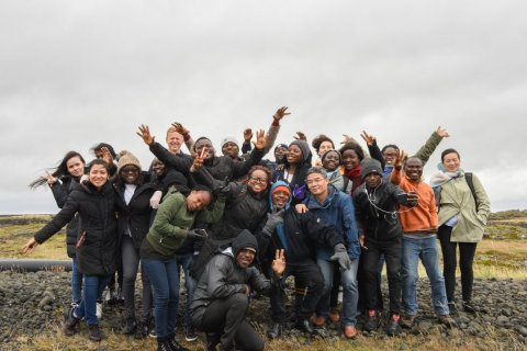 FTP 2019-20 fellows on a site visit in Grindavik, Reykjanes peninsula