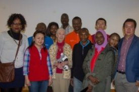 UNU-LRT fellows with Dr Goodall