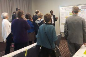 Mr Jinbaani presenting poster from Ghana fellows